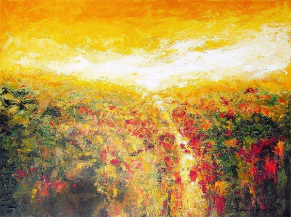 "Contemporary Landscape Canvas Print - ""As The Summer Sun Sets"""