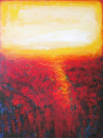 Contemporary Red Landscape art canvas print