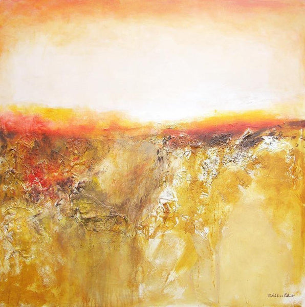 "canvas print - Textural Contemporary Landscape Painting - ""On The Distant Horizon"""