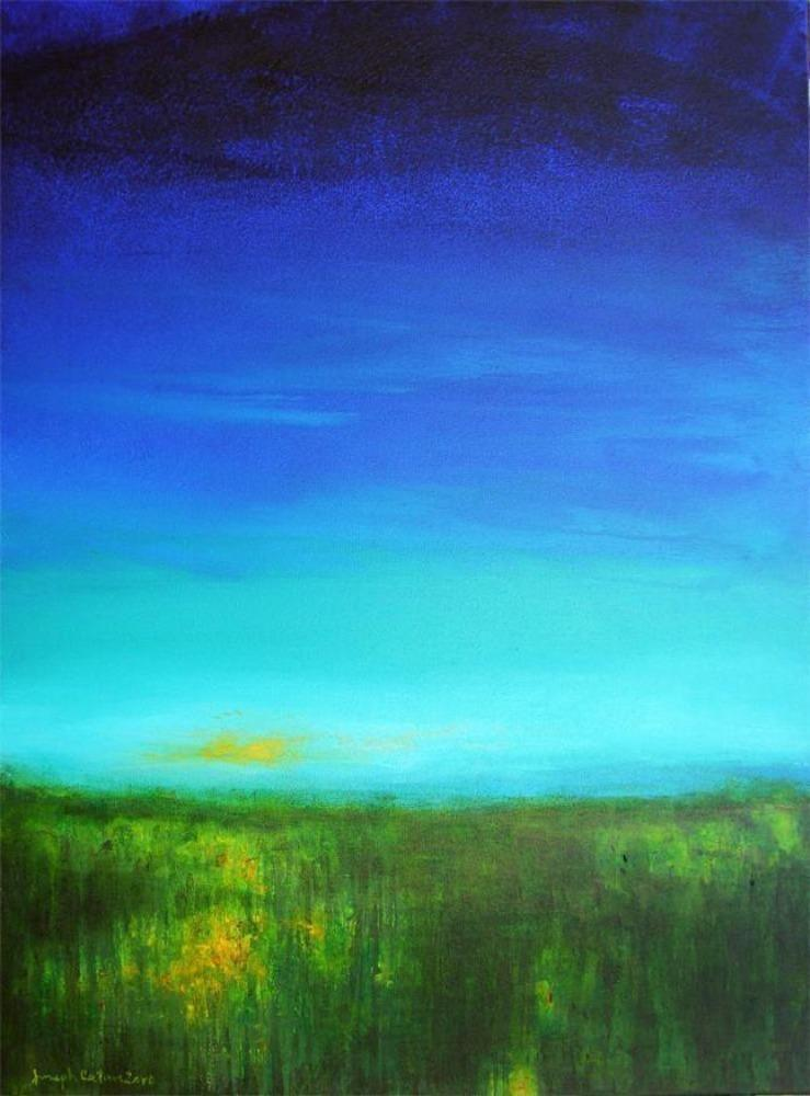 "Contemporary Landscape Art Print - ""Big Blue Sky"""