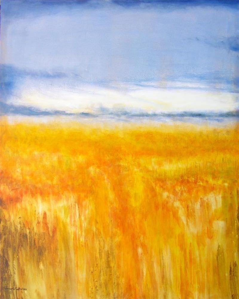 Midwestern summer landscape painting print on canvas