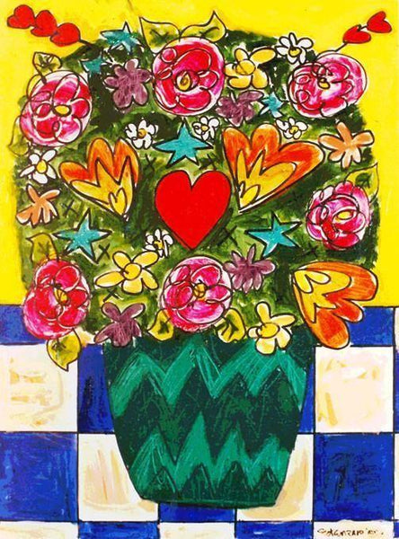 Love Bouquet Painting Art Print