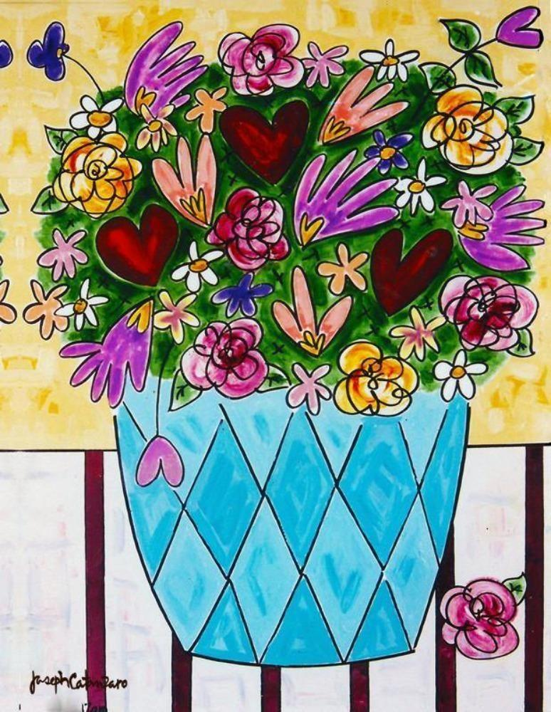 """Glowing Hearts -Love Bouquet"" Canvas Print"