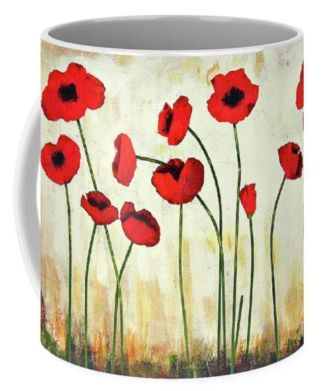 Red Poppy Art Coffee Mug
