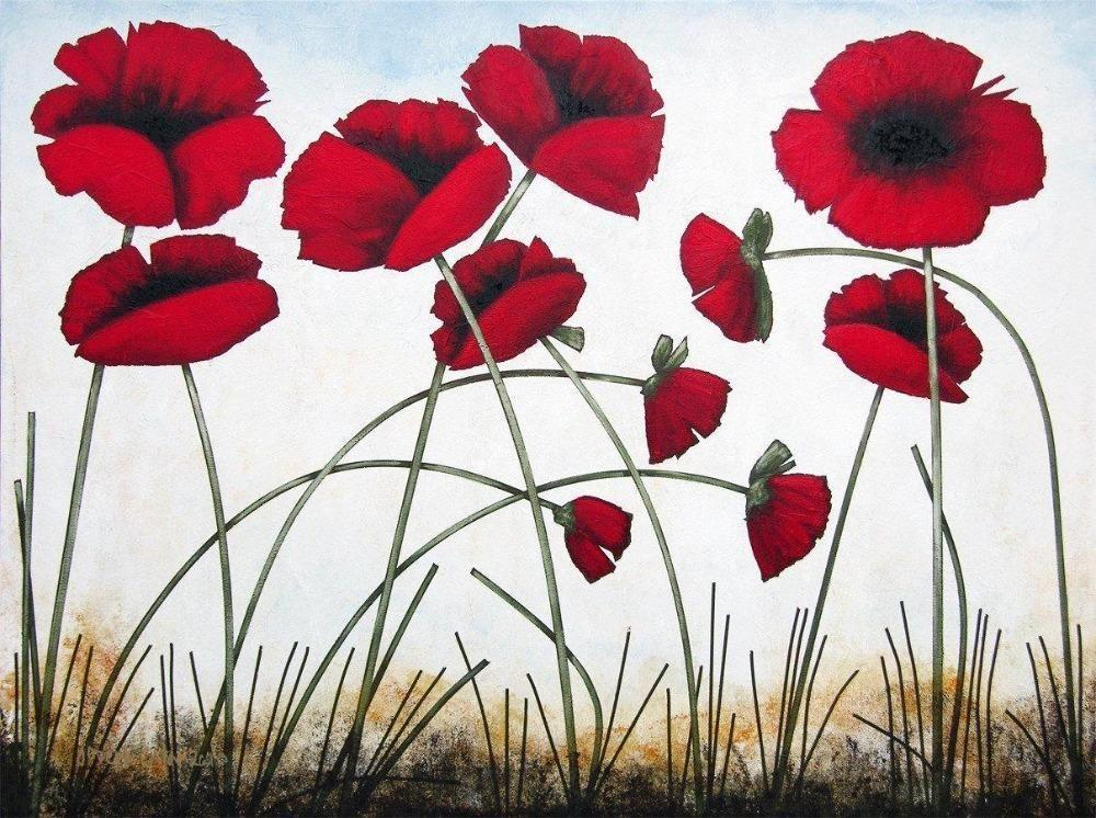 Poppy Painting Print on canvas