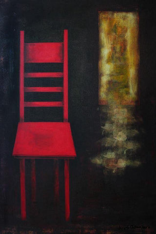 Red Chair Painting Print