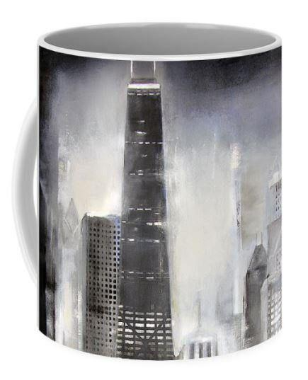 Chicago Shore Skyline Art Coffee Mug
