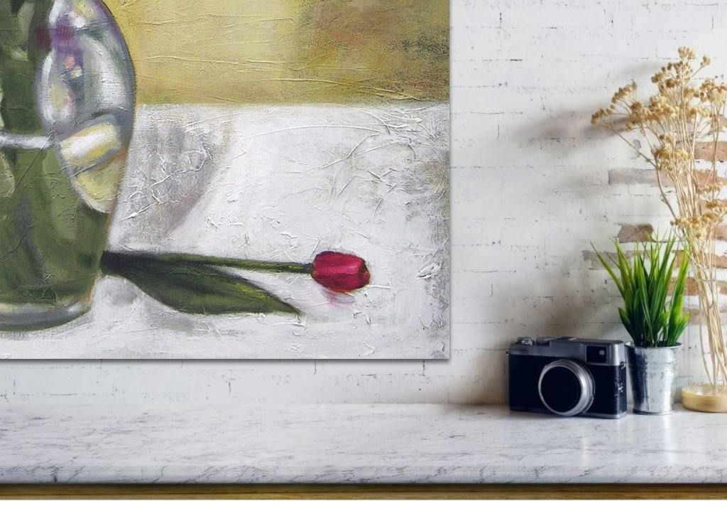 "Flower Canvas Print - ""Tulips from the Garden"""