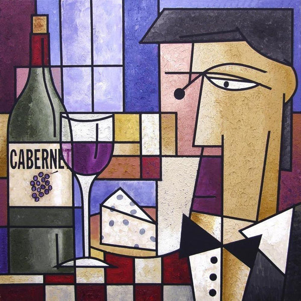 "Wine Art Painting Print - ""Cabernet"""