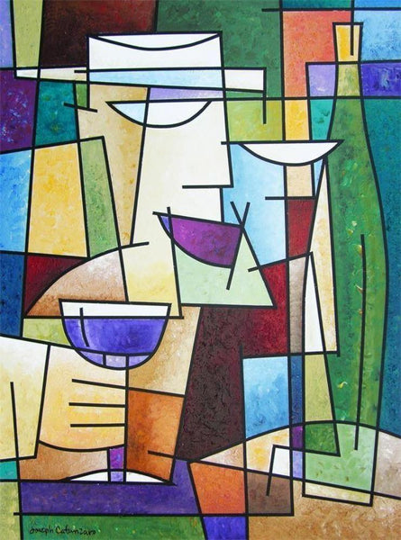 Abstract Wine Art  - Print on Canvas