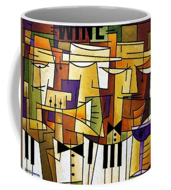 Wine and Music Art Coffee Mug