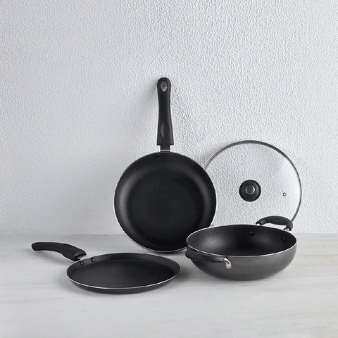 Popular Non-Stick Cookware Set, 3 Pieces