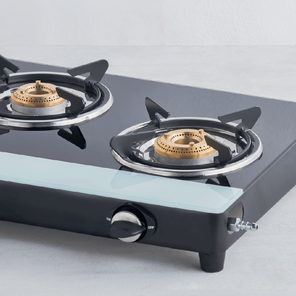 Glass Top 3 Burner Gas Stove (ISI Certified)