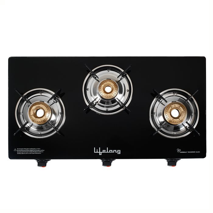 LLGS63 Glass Top 3 Burner Gas Stove