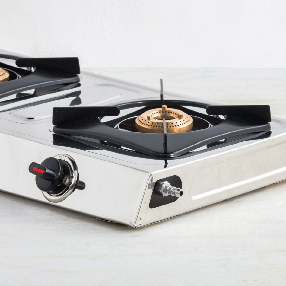 2 Burner Stainless Steel Gas Stove (ISI Certified)