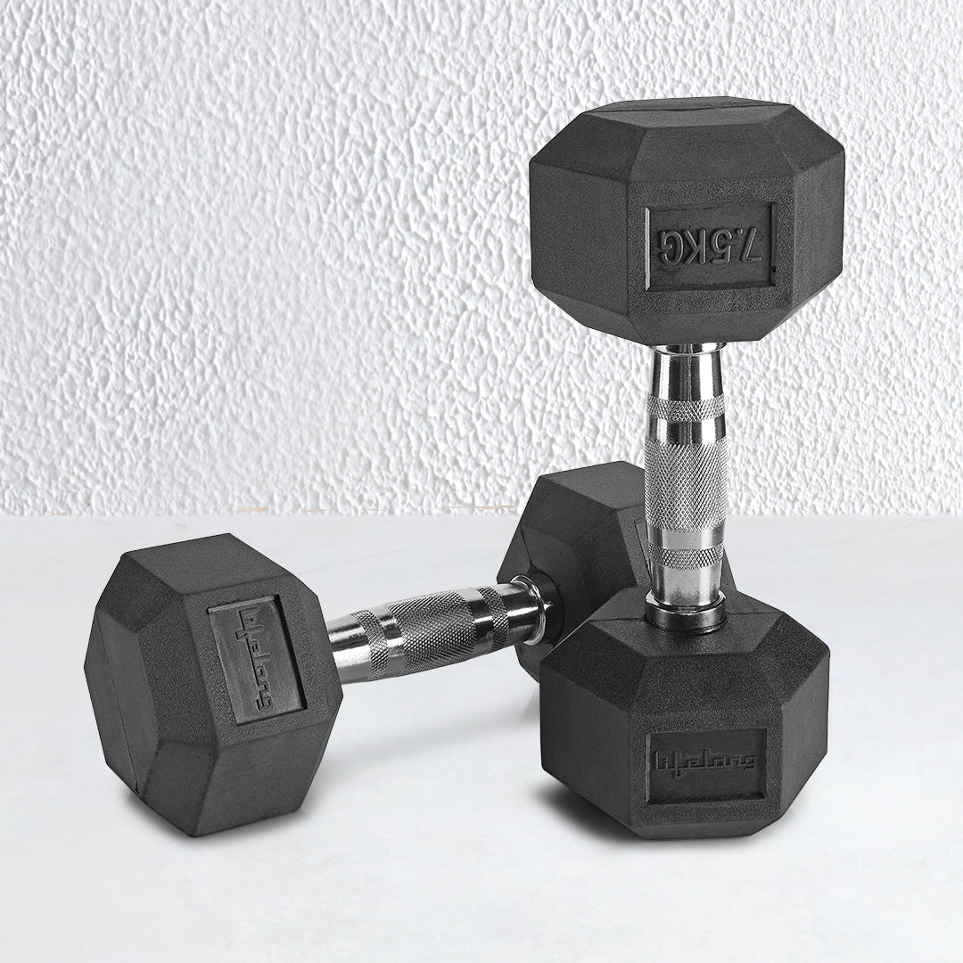 Cast Iron Hex Dumbbell 7.5 kg*2