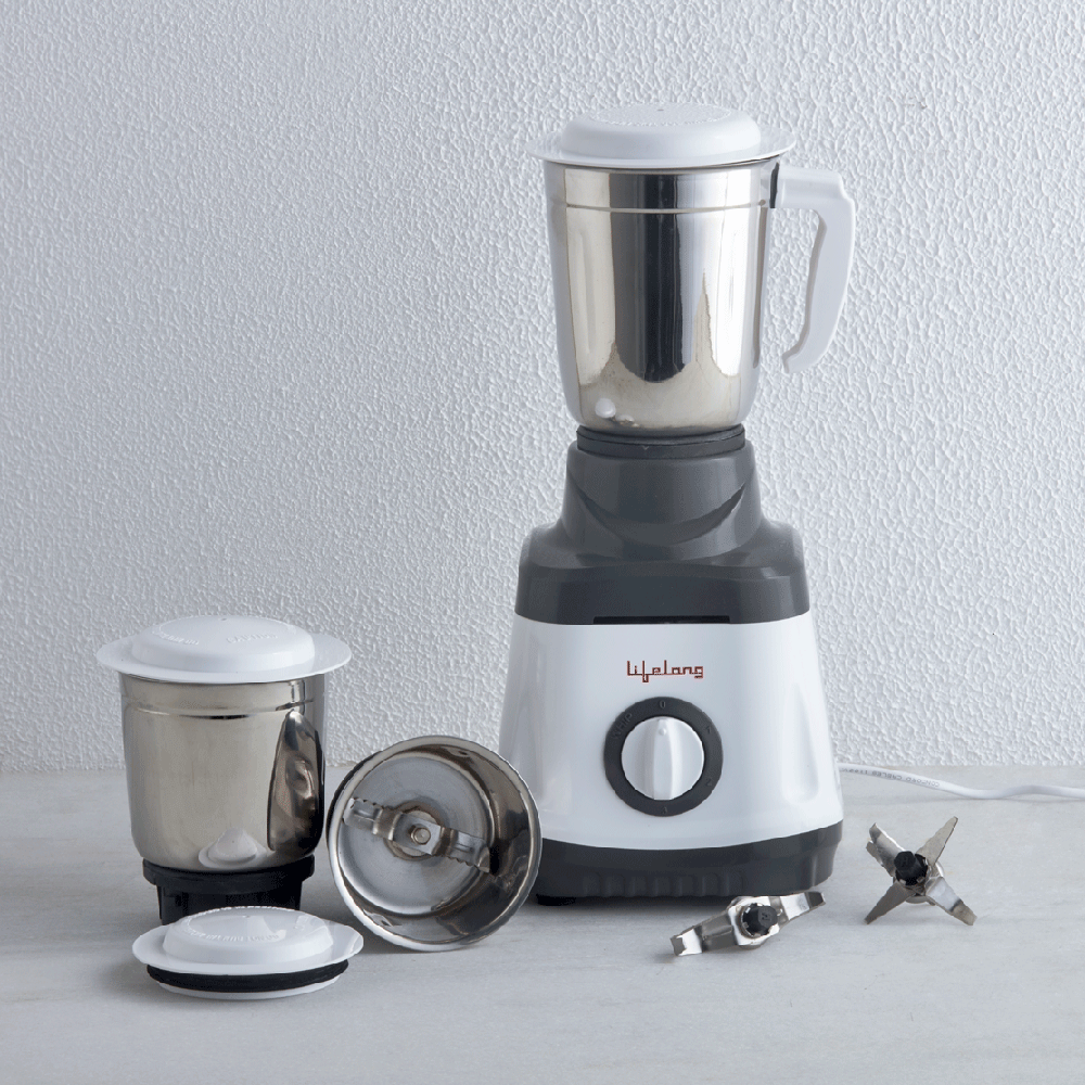 Bolt 750 Watt Mixer Grinder With 3 Jars (ISI Certified)