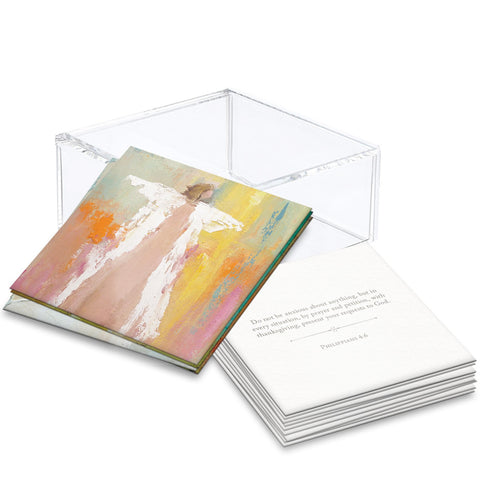 Anne Neilson Home Lucite Boxed 100 Days of Scripture Cards, Angel Series