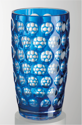 Royal Blue Lente Highball Glass