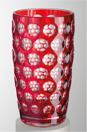 Red Lente Highball Glass