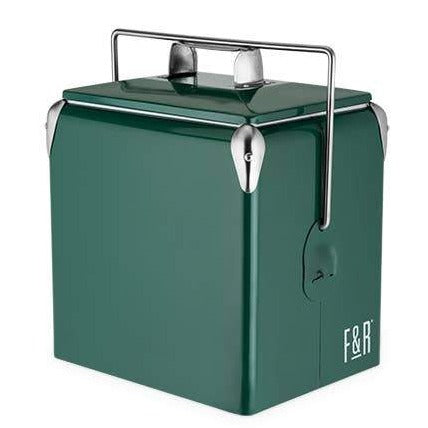 Vintage Metal Cooler, Green
