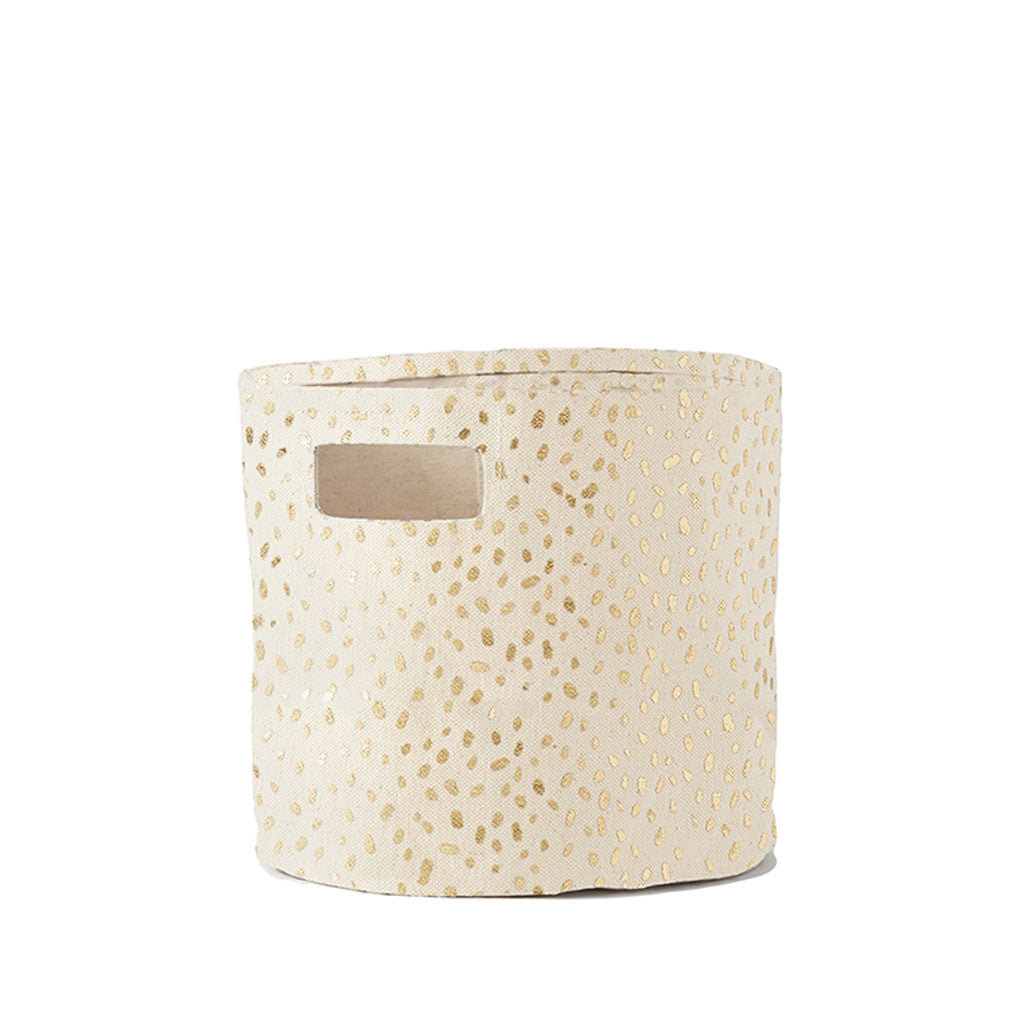 Pehr Gold Foil Dot Storage Bin