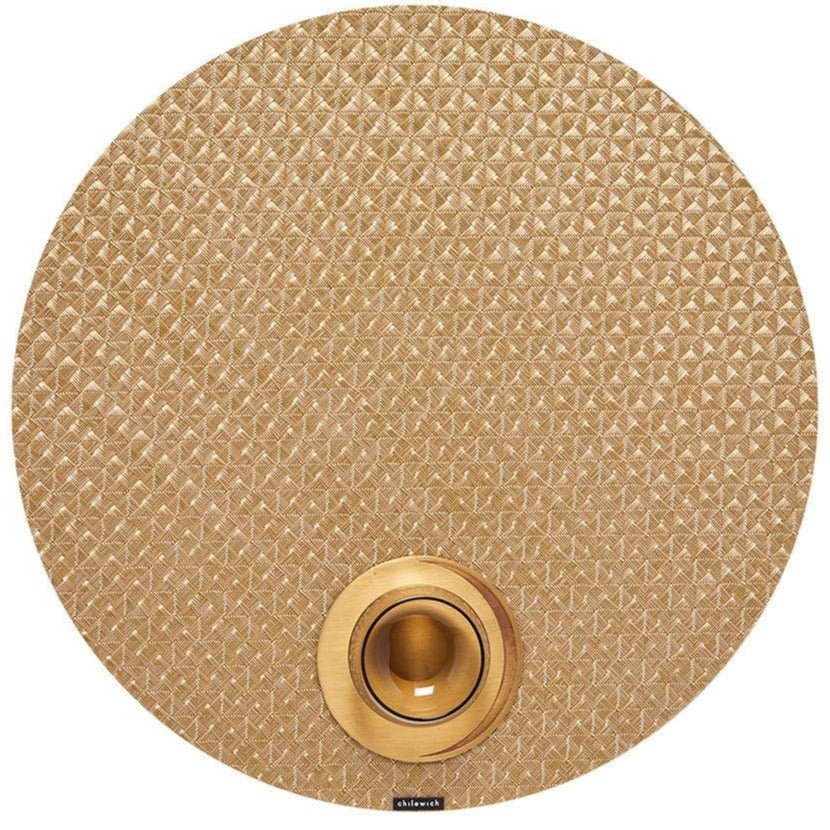 Chilewich Origami Round Table Mat, Honey