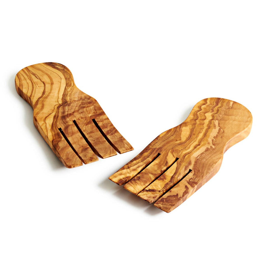 Olive Wood Serving Hands
