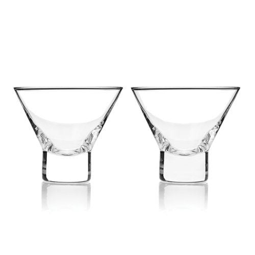 Raye Stemless Martini Glasses, Set of 2
