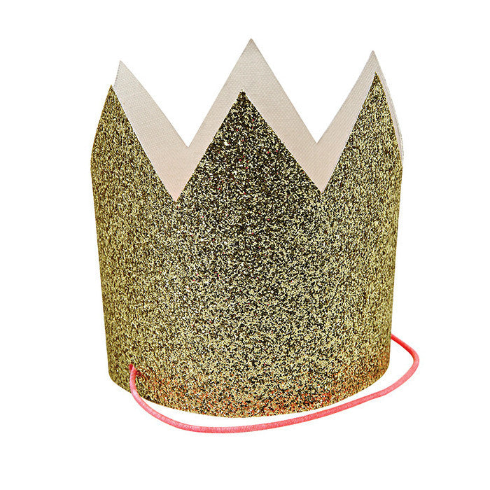 Mini Gold Glitter Crowns - Waiting On Martha