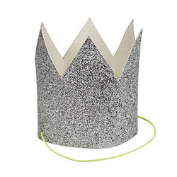 Mini Silver Glitter Crowns - Waiting On Martha
