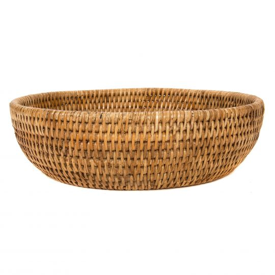 Rattan Bowl, Honey Brown