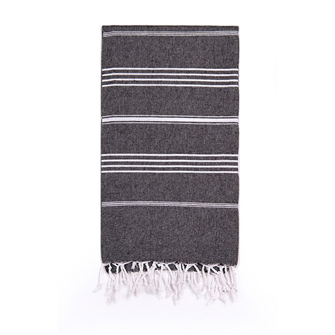 Turkish T Classic Hand Towel - Black