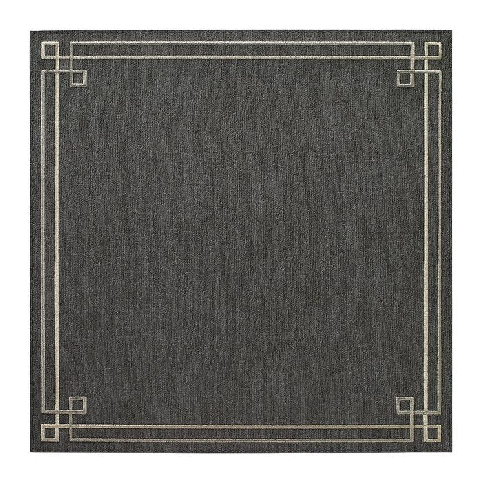 Charcoal / Silver Link Washable Placemat