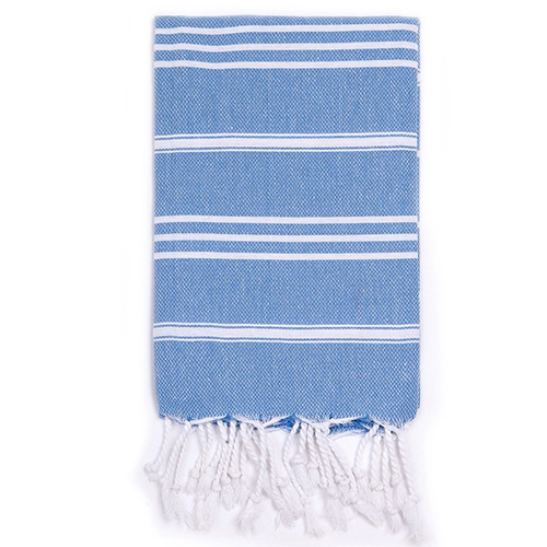 Turkish T Classic Hand Towel - Bright Blue