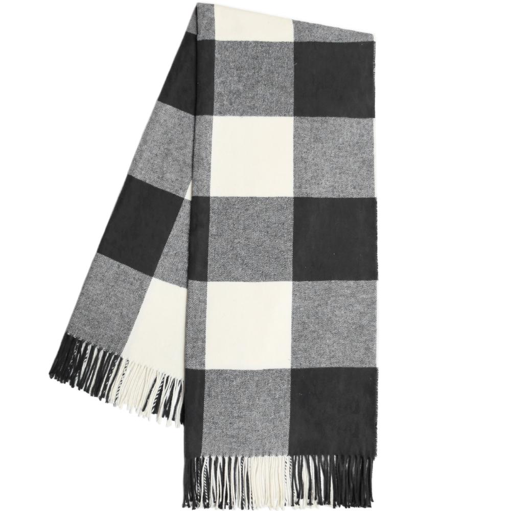 Black Buffalo Check Throw Blanket