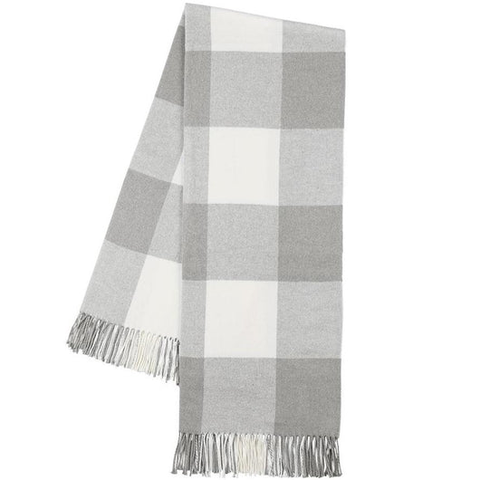 Light Gray Buffalo Check Throw Blanket