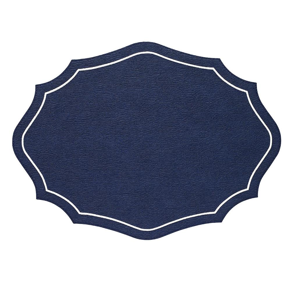 Byzantine Navy White Placemats