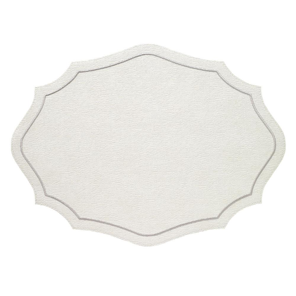 Byzantine White Silver Placemats