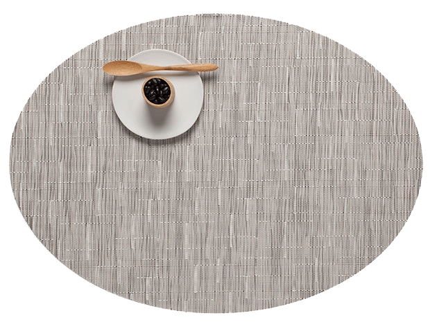 Chilewich Chalk Bamboo Oval Table Mat