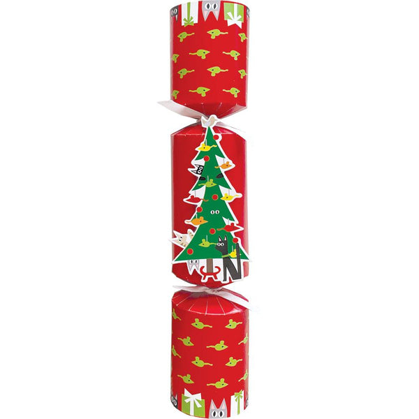 Cats Decorating Tree Pet Christmas Favor