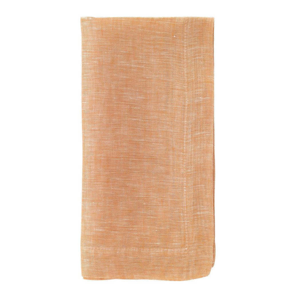 Chambray Apricot Dinner Napkin