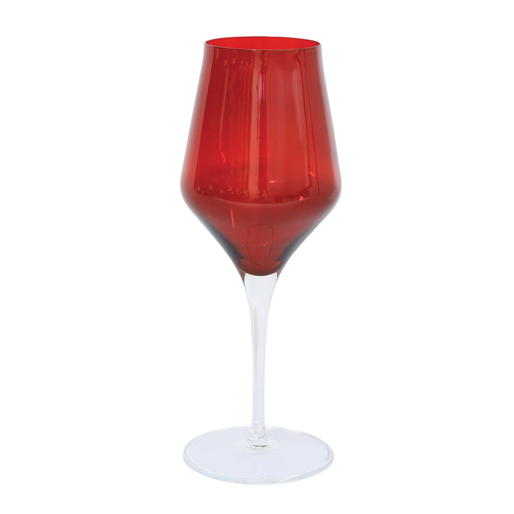 VIETRI Contessa Red Water Glass