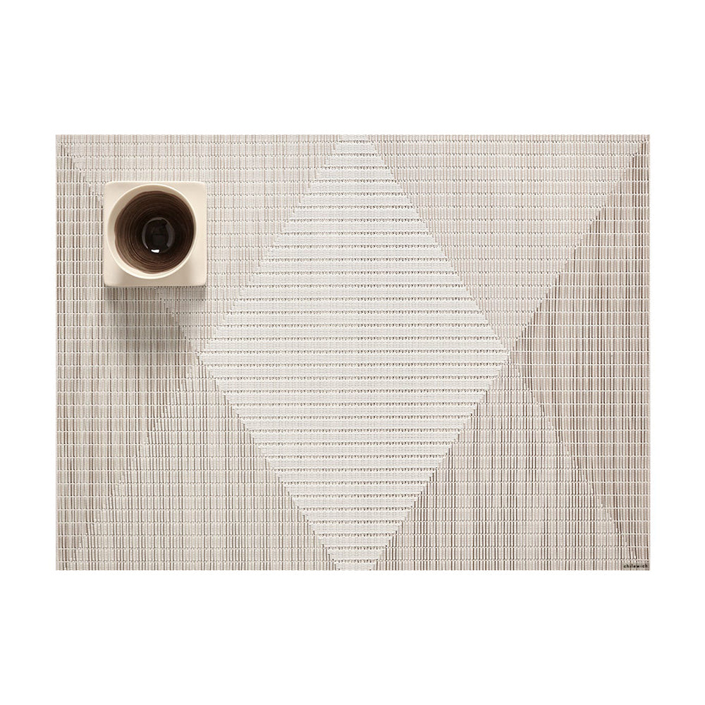 Chilewich Signal Rectangle Table Mat, Sand