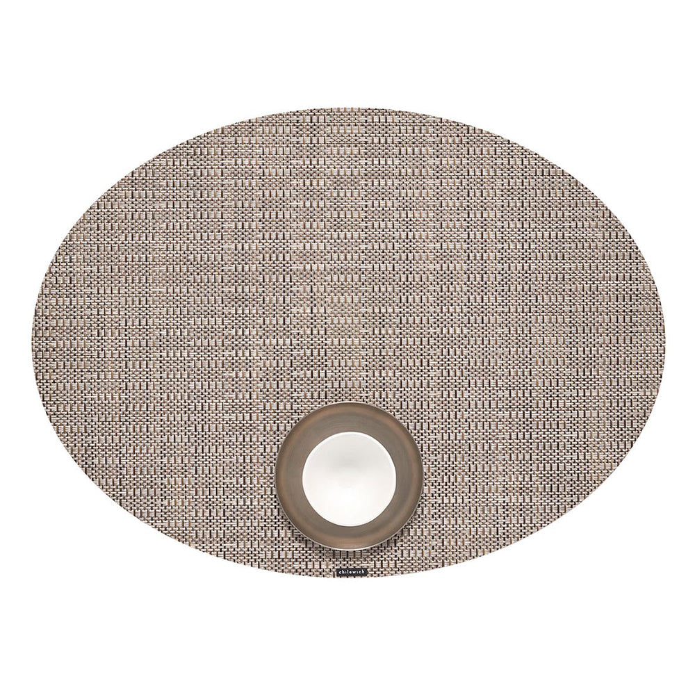 Chilewich Thatch Oval Table Mat, Umber