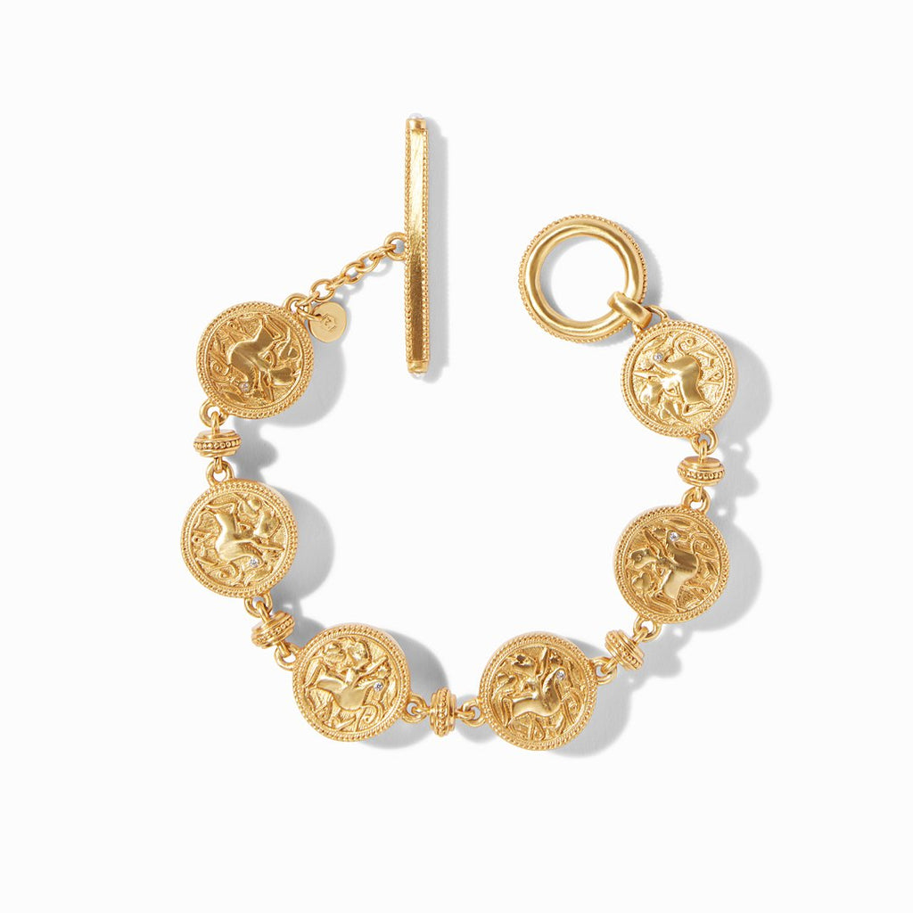 Julie Vos Coin Double Sided Bracelet, Gold Mother of Pearl