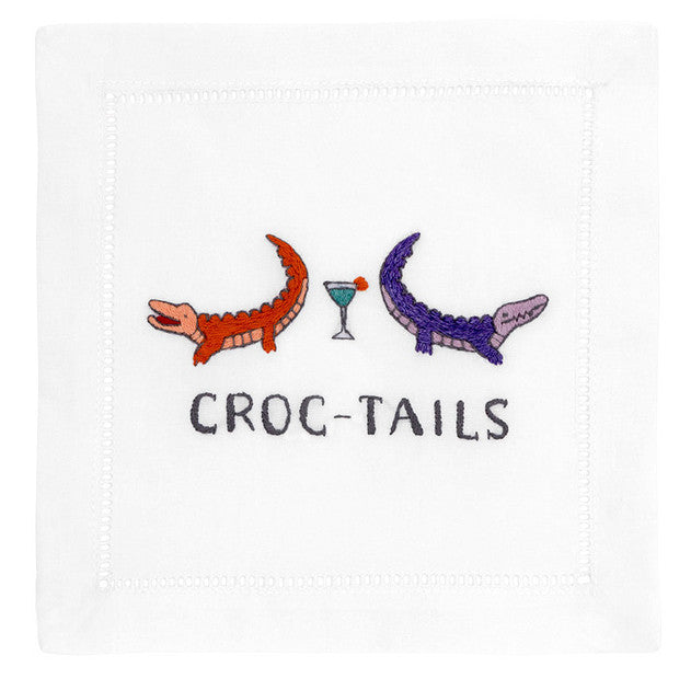 """Croc-Tails"" Cocktail Napkin Set - Waiting On Martha"