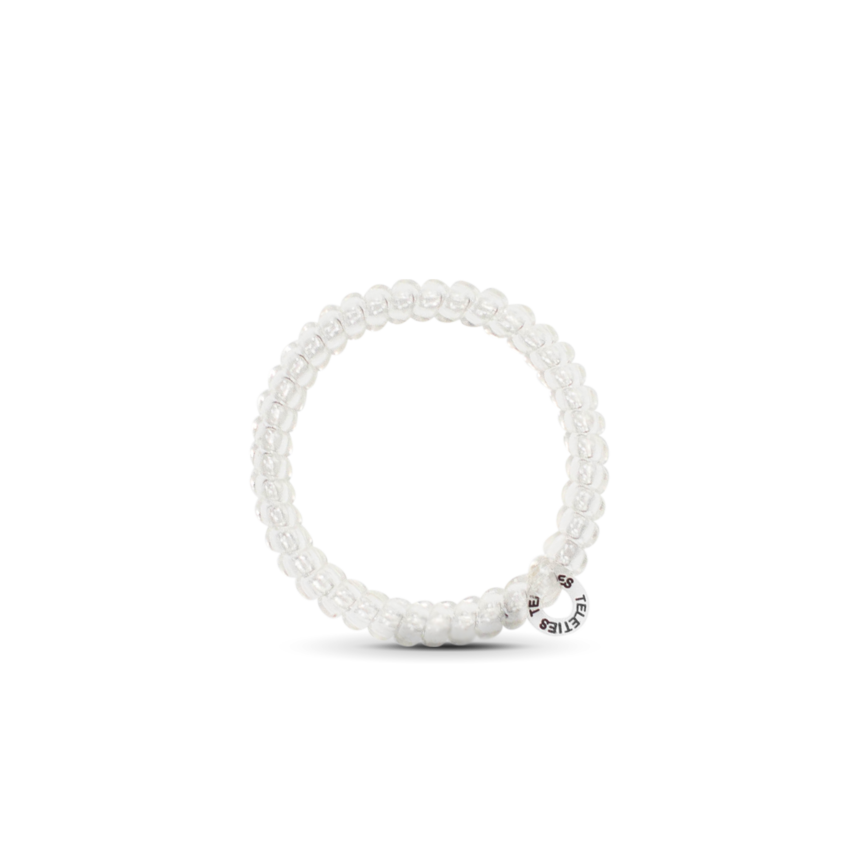 Large Teleties Hairbands Coconut White