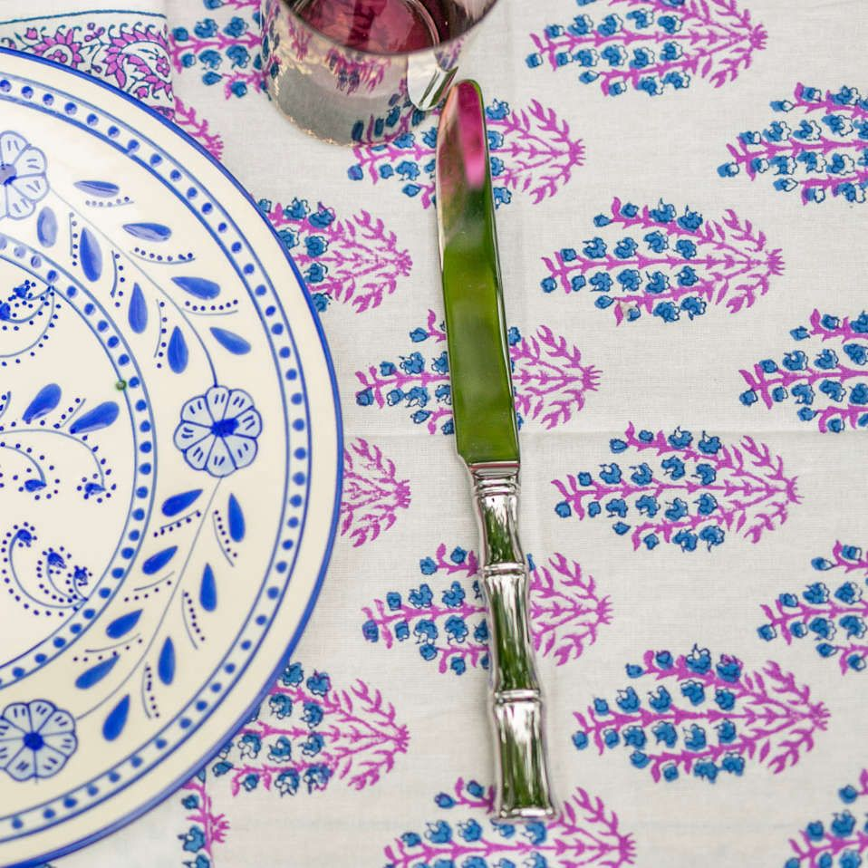 Modern Blues Table Cloth