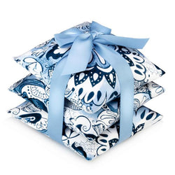 Blue & White Silk Vetiver Sachet Set